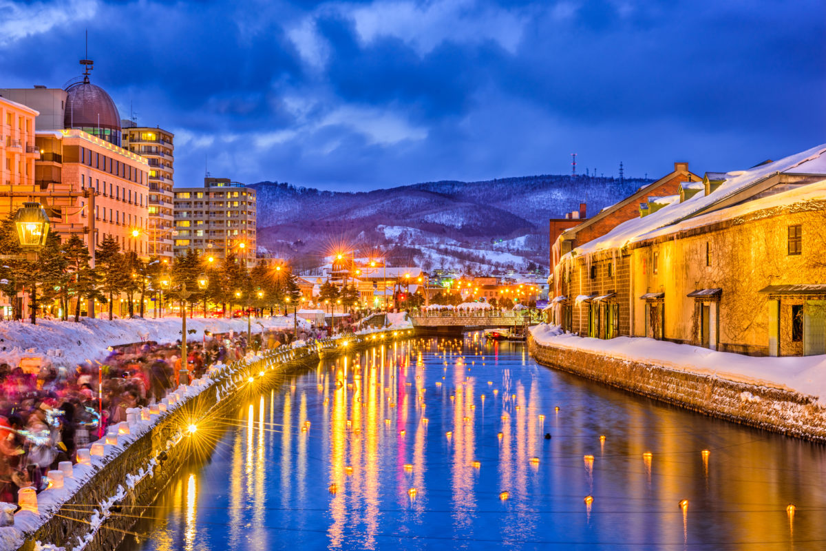 冬の小樽運河(Otaru Canal in winter)