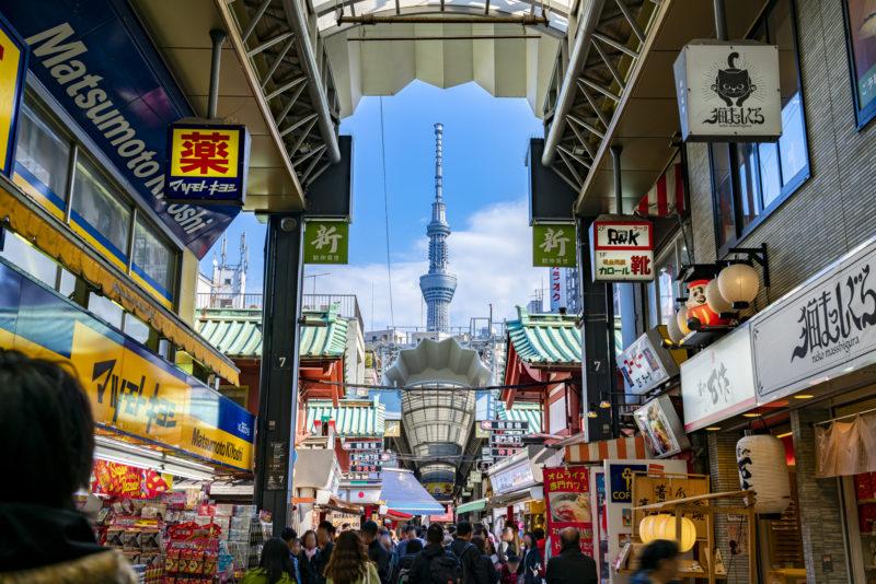 新仲見世通り(Shin Nakamise Shopping Street)