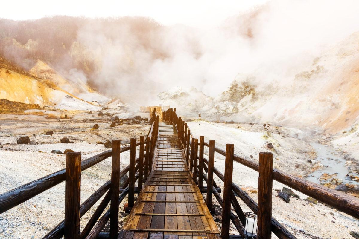 登別の地獄谷(Hell Valley at Noboribetsu)