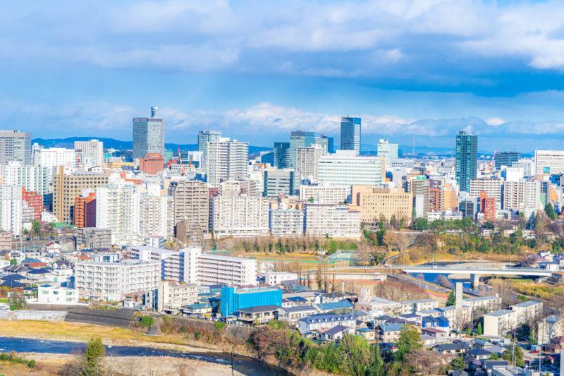 仙台の街並み(Cityscape of Sendai)