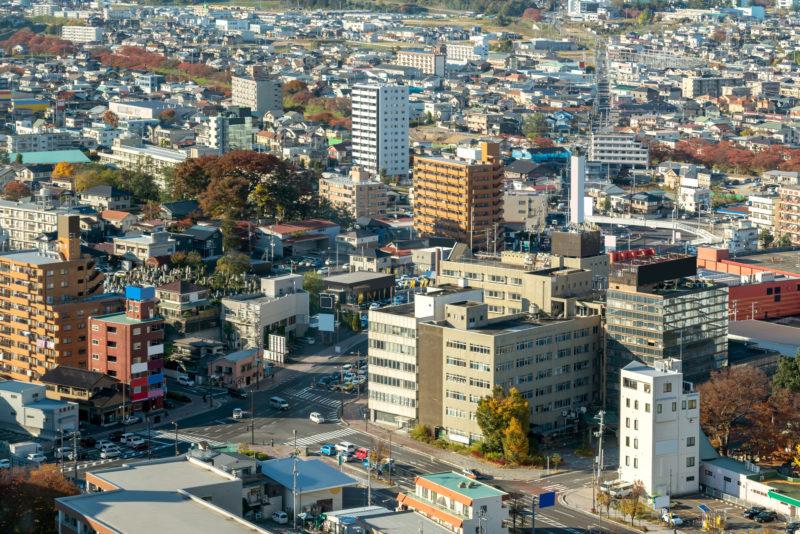 郡山市の街並み(Cityscape of Koriyama)