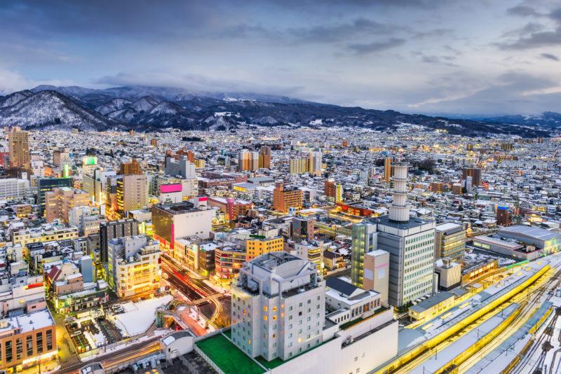 山形市の風景(Cityscape of Yamagata city)