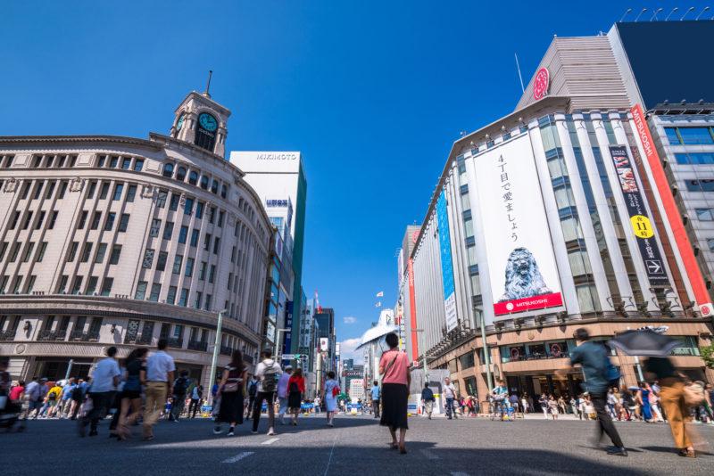 銀座の街並み(Cityscape of Ginza)