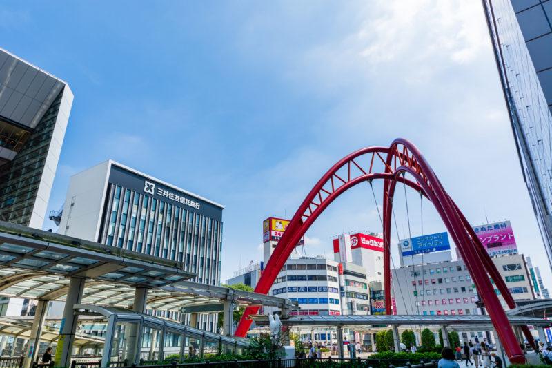 立川駅周辺の風景(Cityscape spreading out around Tachikawa Station)