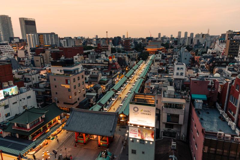 浅草文化観光センターの展望室からの景色(The view from observatory room of Asakusa Cultural Center)