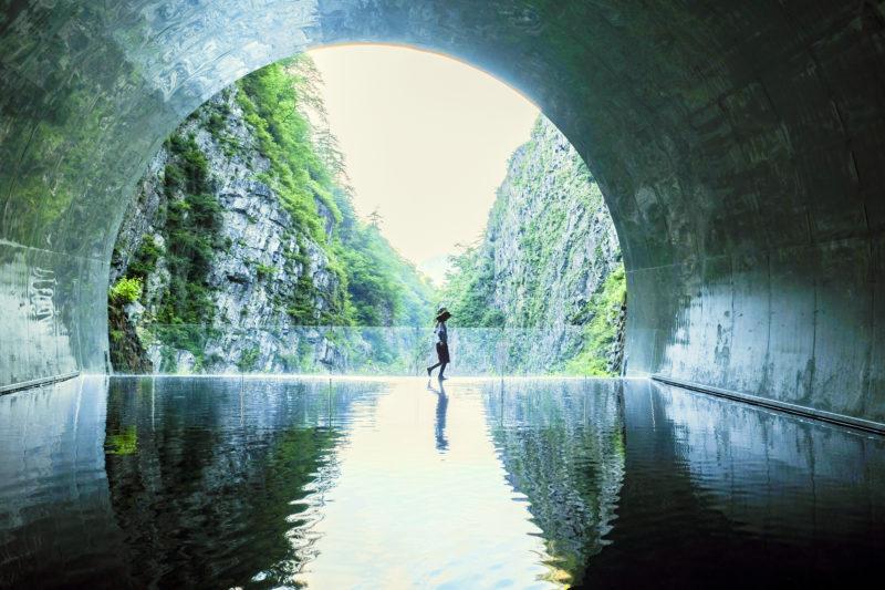 清津峡渓谷トンネルのパノラマステーション(Panoramic Station at Kiyotsukyo Gorge)