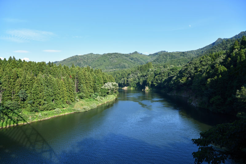 真夏の阿賀野川(Agano River in summer)