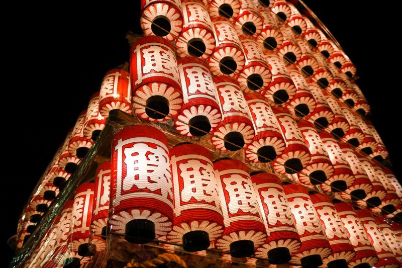 岸和田だんじりまつりの提灯(Lanterns of Kishiwada Danjiri Festival)
