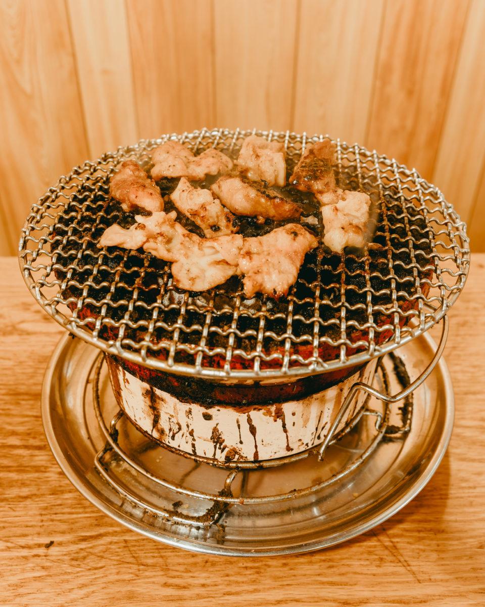 タレ味豚ホルモン(Offal dipped into sauce)