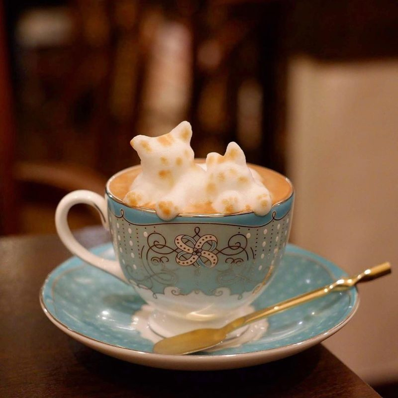 Ken's珈琲店のカプチーノ(Cappuccino offered by Ken's Coffee Shop)