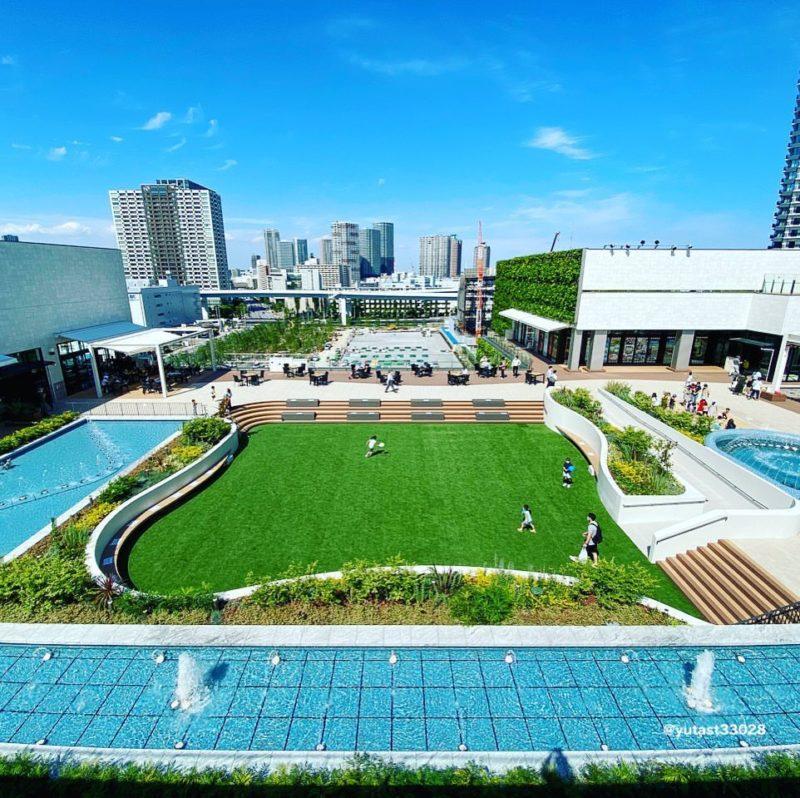 有明ガーデンの屋上庭園(The rooftop garden of Ariake Garden)