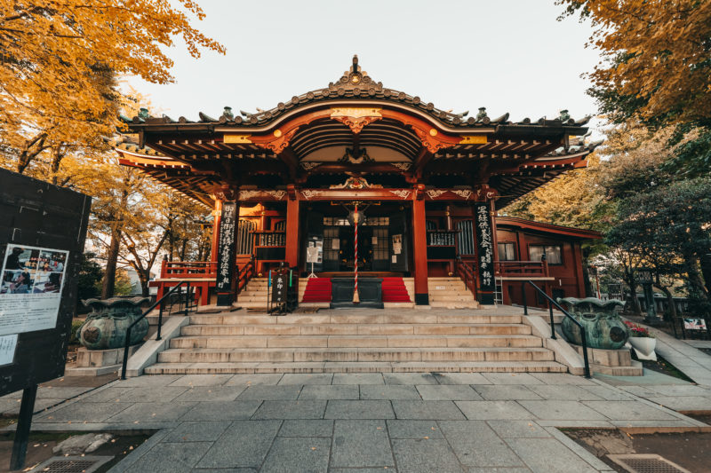 待乳山聖天の本堂(The main hall of Matsuchiyama Shoden)