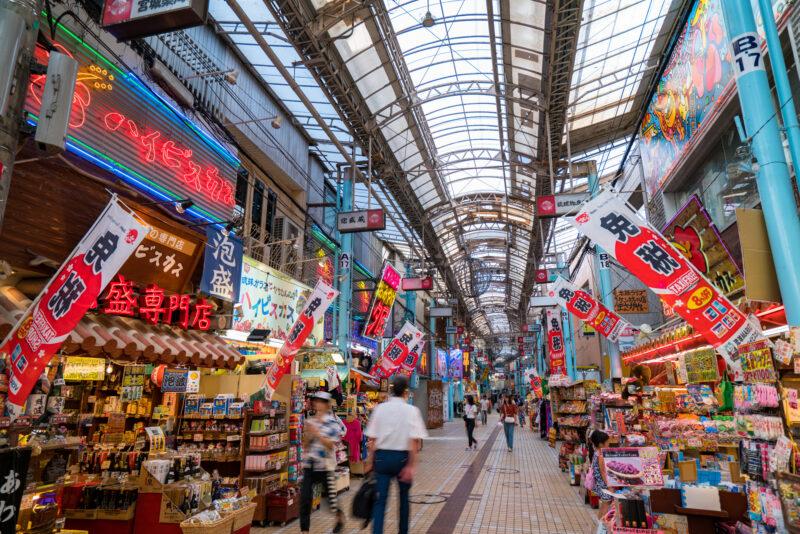 国際通りのアーケード(Arcade of Kokusaidori Street)