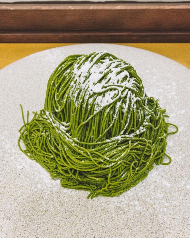 絹糸のようなクリームを纏ったモンブランと、升に入った上品な姿が美しいティラミスが絶品!インスタグラム上で話題の抹茶スイーツ in浅草