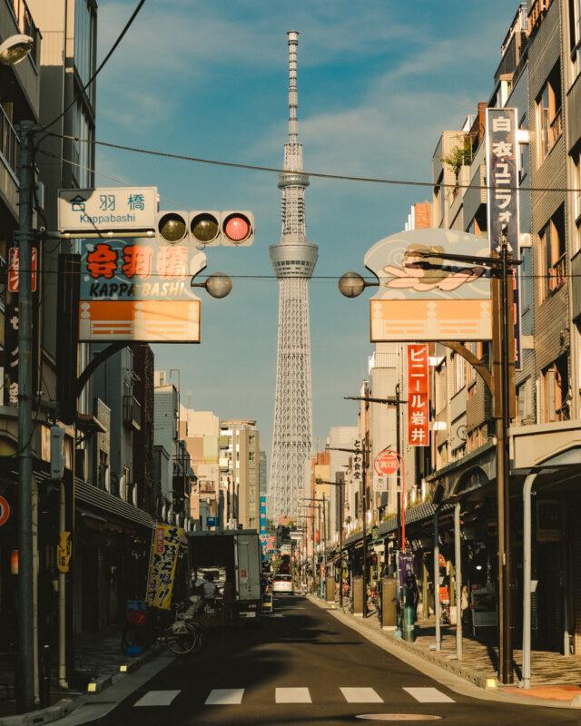 合羽橋入り口の風景(Scenery of Kappabashi's Entrance)