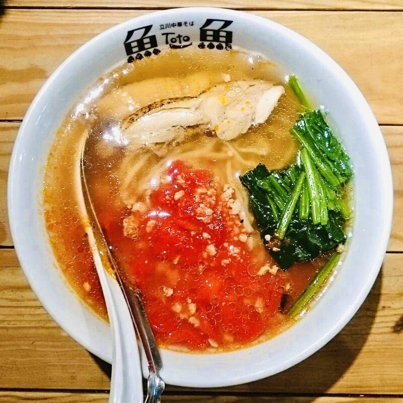 とと本店の鶏トマトラーメン(Chiken Tomato Ramen offered by Toto Honten)