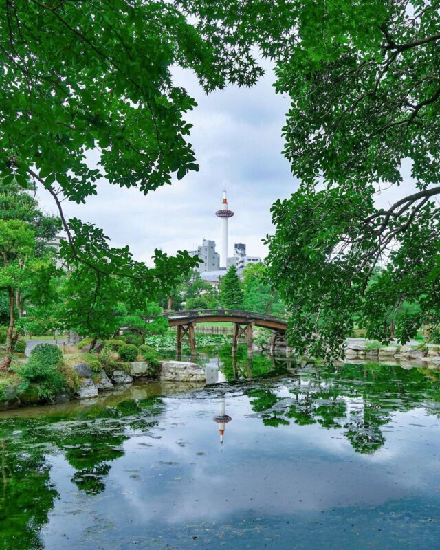 """Take a Picture of Kyoto Tower's Reflection! -""""Shoseien Garden"""" maintaining its appearance since the middle of the 1600s"""